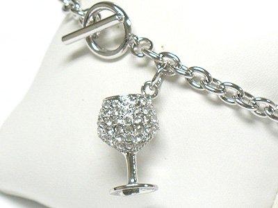 Wine glass toggle bracelet(R1141SL-32532)