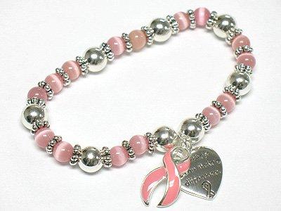 Breast cancer campaign pink bracelet(M1137PK-32361)