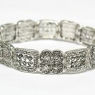 Marcasite looks metal stretch bracelet(M1145SL-32357)