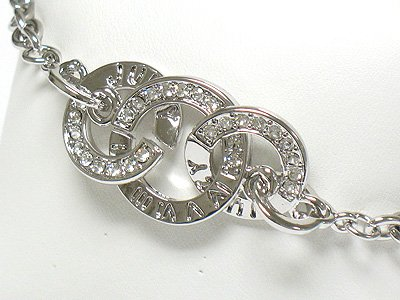 Designer inspired triple round bracelet(R1155SL-32363)