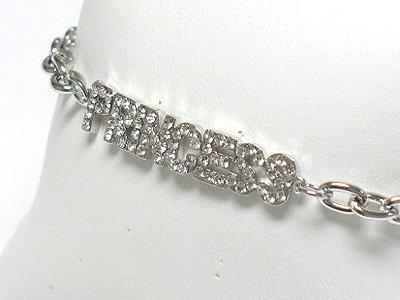 Princess chain bracelet(R1161SL-323116)