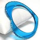 Heart shape acrylic bracelet(C1141AQ-61217)