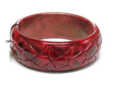 Crack surface acrylic bangle bracelet(C11125RD-22538)