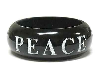 Peace love faith carved bracelet(D11157IV-111435)