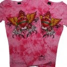 TIE DYED REBEL AT HEART Tattooed Shirt (KDC784SS)
