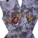 TIE DYE Tattoo Inspired Rhinestone tank top