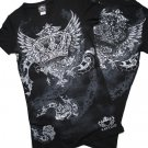 Crown  with wings rhinestone shirt