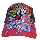 Hot Pink SAVIOR Rhinestoned Tattoo cap