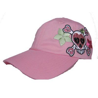 Skull & Flower tattoo inspired woman's cap