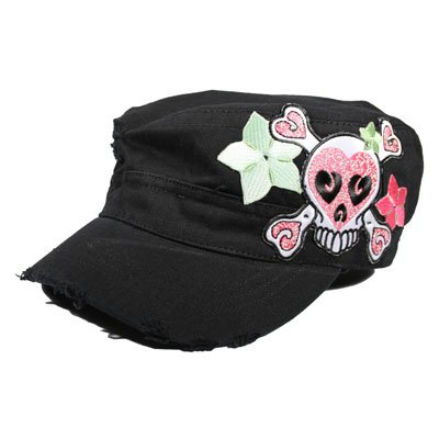 Skull with flowers Cadet Cap