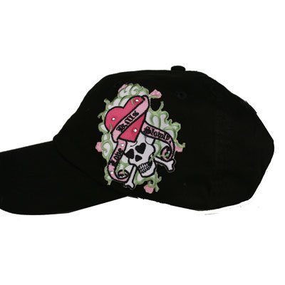 "Skull""Love Kills"" women's baseball cap"