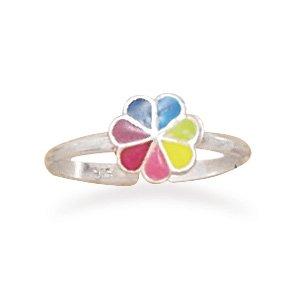 Multicolor Enamel Flower Toe Ring(9492)