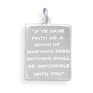 Mustard Seed Quote Pendant(73695)