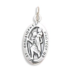 Small Oval Saint Christopher Charm(5503)