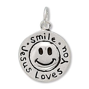 """Smile Jesus Loves You"" Charm (73025)"