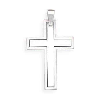 Stainless Steel Cross Pendant(73529)