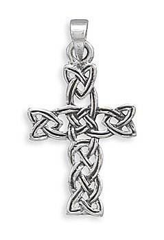 Oxidized Woven Celtic Cross Pendant(73433)
