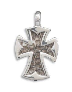 Large Snakeskin Cross Pendant(73352)