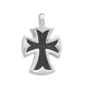 Black Stingray Large Cross Pendant(73351)