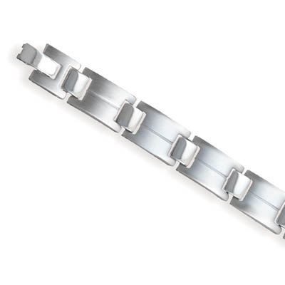 Titanium Square Rectangle Link Bracelet(22936)