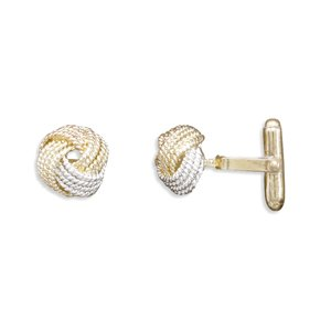 18 Karat Gold and Rose Plate Cuff Links(9926)