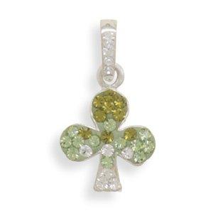 Green Crystal Shamrock Pendant(73740)