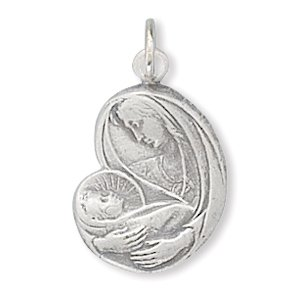 Virgin Mary with Baby Jesus Charm(72956)