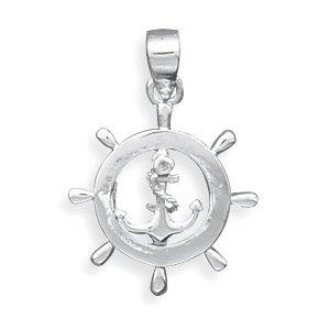 Nautical Ship's Wheel Pendant(73470)
