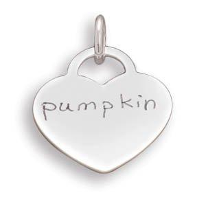 "Heart Pendant with ""pumpkin""(73795)"