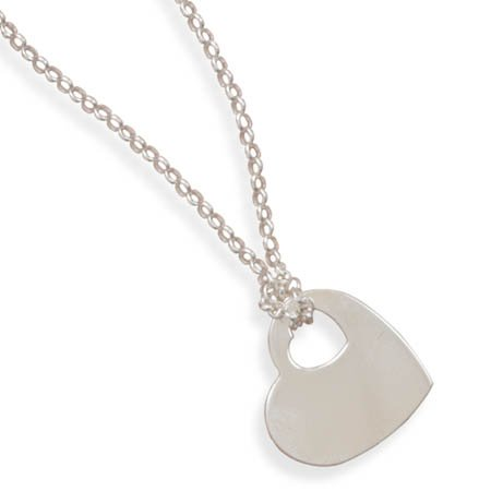 "17"" Necklace with Heart Tag(33235)"