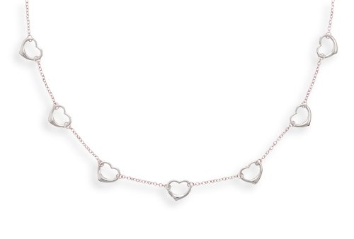 Necklace with Cut Out Hearts(33088)