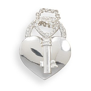Heart and Key Fashion Pendant(W5023)