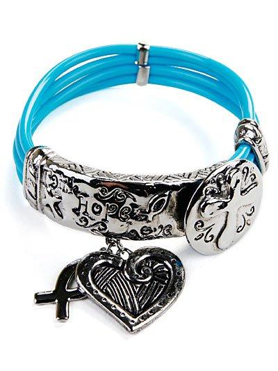 Faith, hope, love bracelet(b206bk_18)