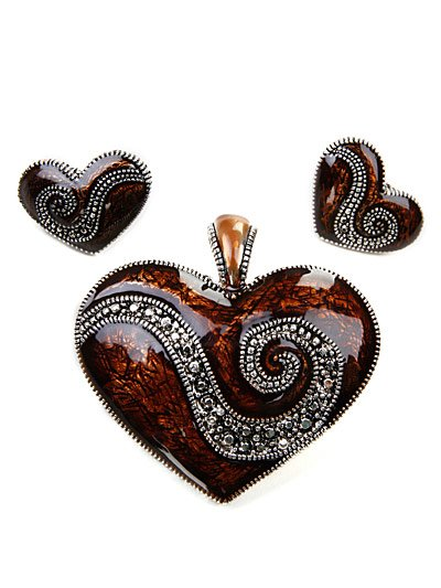 Magnetic heart pendant set(p472lasbn_5HD)