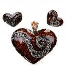 Magnetic heart pendant set(p472lasbn_5HD)