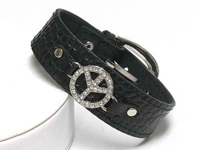 Peace Symbol Bracelet(N1153BK-51543)