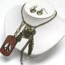 Charm dangle necklace(O11349BR-513113)