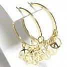 Dangle peace symbol earrings(O933GD-51326)