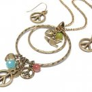 Peace Symbol necklace set(U11341GD-1363)