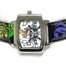 Designer inspired tattoo leather watch(U15101BK-61213)