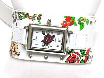 Designer inspired leather watch(U15109WH-61205)