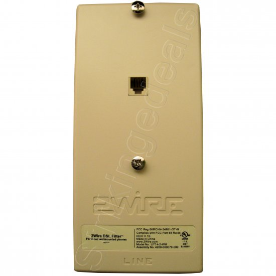 2wire Dsl Filter For 2 Line Wall Mounted Phones