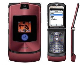 "Motorola V3I Razr ""Maroon''  Cellular Phone with i-Tunes (Unlocked)"