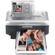 """Olympus D555 5.1MP Digital Camera, 2.8x Zoom, 1.8"""" Display + ILP-100 printer"""
