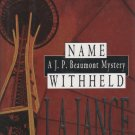 Name Withheld by J.A. Jance (Hardcover)