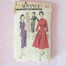 Vintage 50s Advance 8169 Shirtwaist Dress Sewing Pattern Slim Full Skirt  Size 16