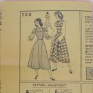 Vintage 40's Simplicity 2518  Jumper Blouse Sundress Sewing Pattern Size 12