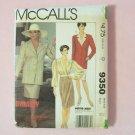 Retro McCall's 9350 Joan Collins Dynasty Collection Dress Suit Jacket Uncut Pattern Wrap Blouse