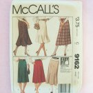 McCall's  9162 Retro 80's Skirt Pattern Fitted Flared Straight Uncut