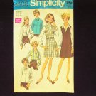 Vintage 60s Simplicity 8408 A-Line Jumper Dress and Blouse Pattern Size 38
